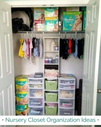 {Nursery Closet Organization} Easy DIY Baby Closet ...