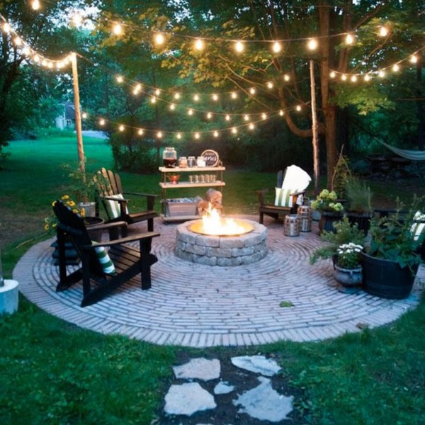 backyard fire pit ideas and design