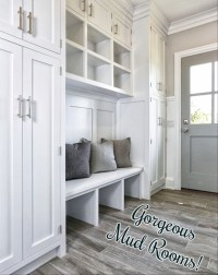 {MudRoom Pictures} DIY Farmhouse Mudroom Ideas - January 2019