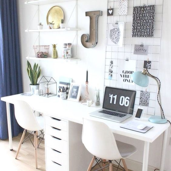 Home-Office-Organization-Decor-Storage-White