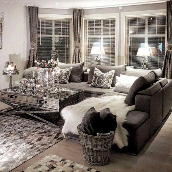 black white and gray living room Neutral Living Room Ideas - Earthy Gray Living Rooms To Copy - Involvery