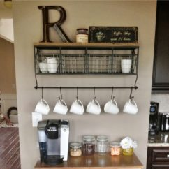 Coffee Bar In Kitchen Cabinet Hinge Types Diy Station Ideas Home Bars And Pictures