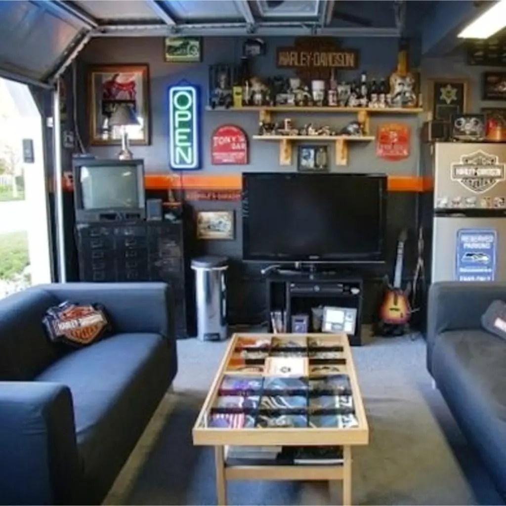 Small Garage Man Cave Ideas On A Budget Novocom Top