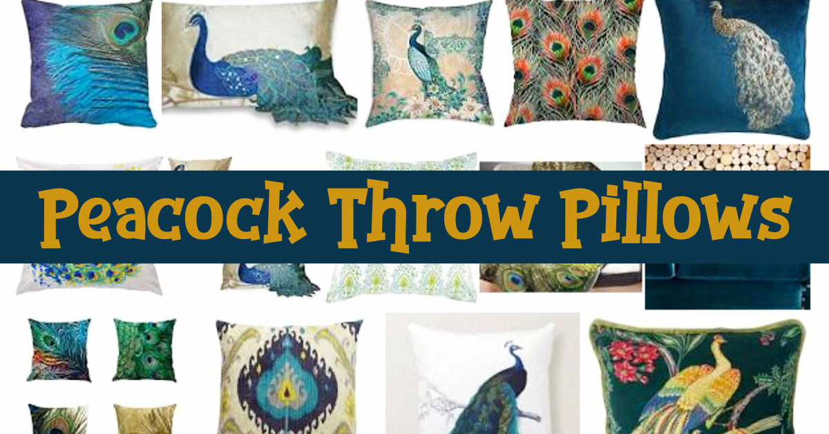 Peacock Throw Pillows Fun Decorative Peacock Pillows To Add A POP Of Color To Your Room