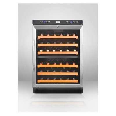 Summit Under-Counter Dual Zone Wine Cellar with 46-Bottle Capacity