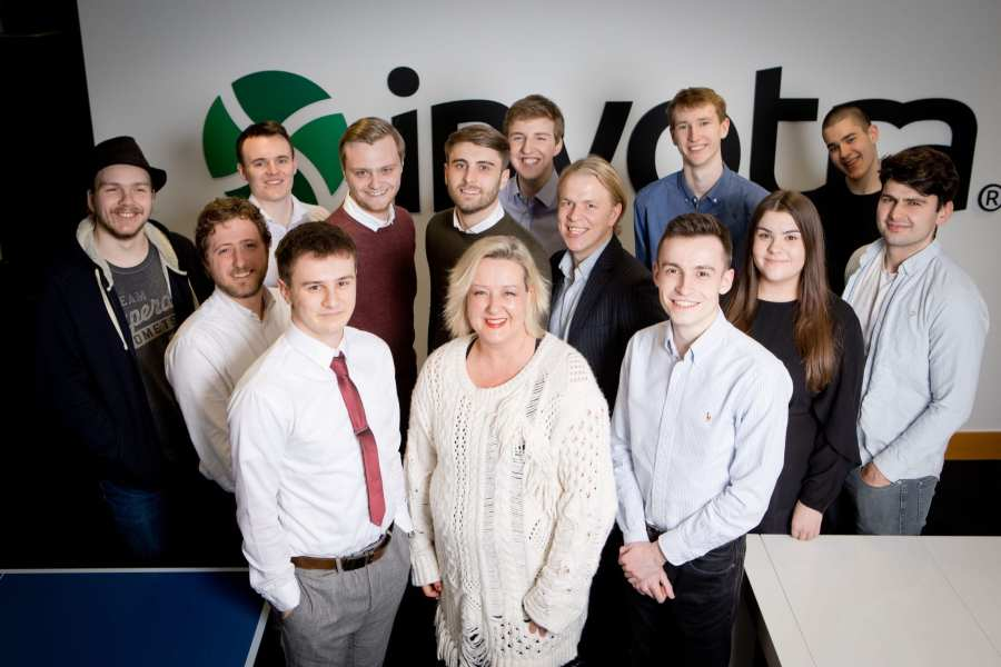 Allison Galvin and employees who have studied for apprenticeships