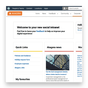 Homepage sample screenshot