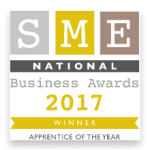 Winner of 'Apprentice of the Year' National SME Business Awards 2017