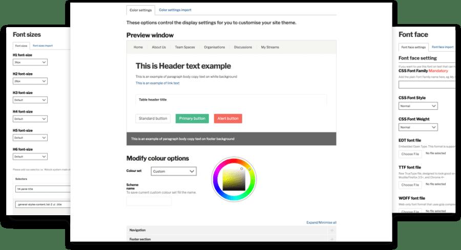 Branding settings screenshot
