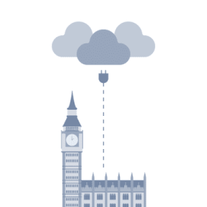 Cloud software and support illustration