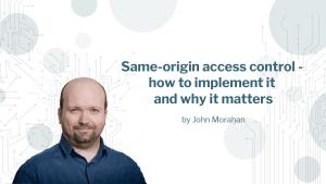 Blog image for same origin access control