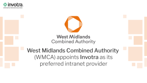West Midlands Combined Authority appoints Invotra as its preferred intranet provider with WMCA logo