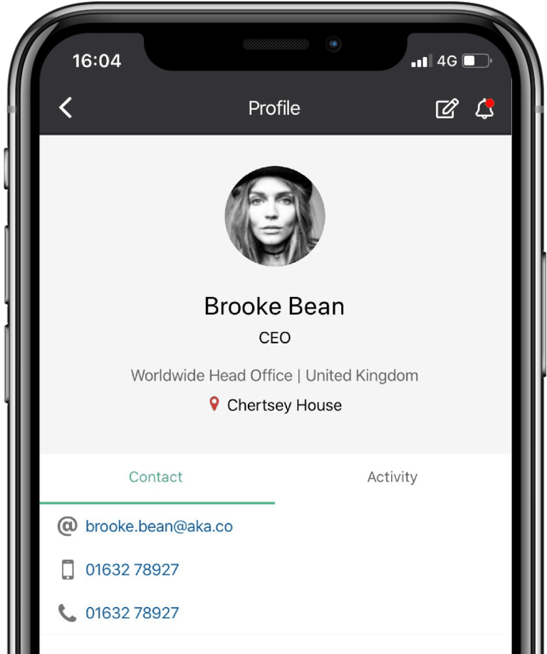 Image of Invotra mobile app in use on an Iphone X