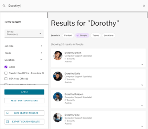 Invotra 5.0 launch blog - people search results