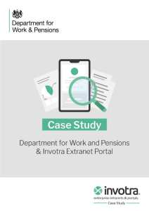 DWP and Invotra Case Study front cover