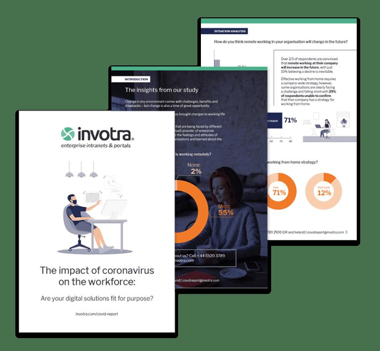 Impact of teh coronavirus on the workforce page previews