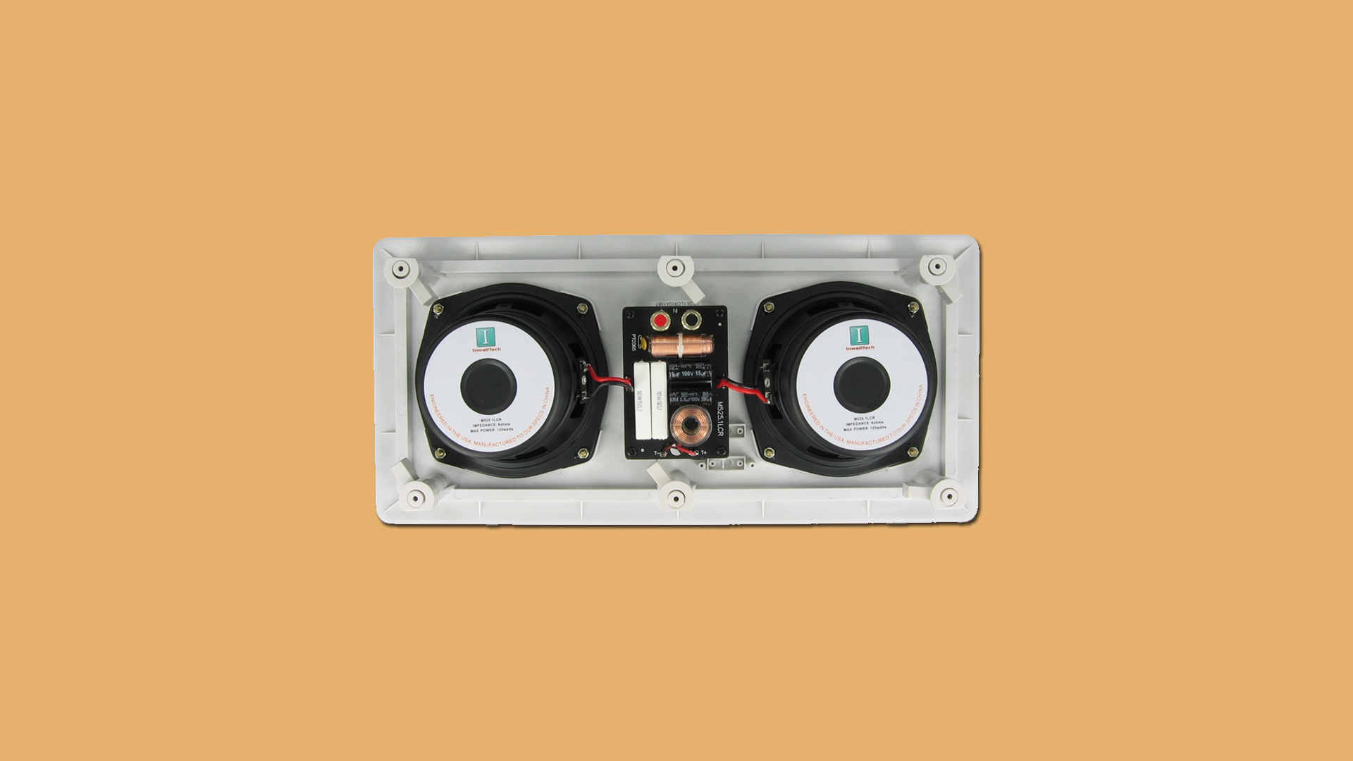 InwallTech Center Channel Speakers M525 1LCR 3