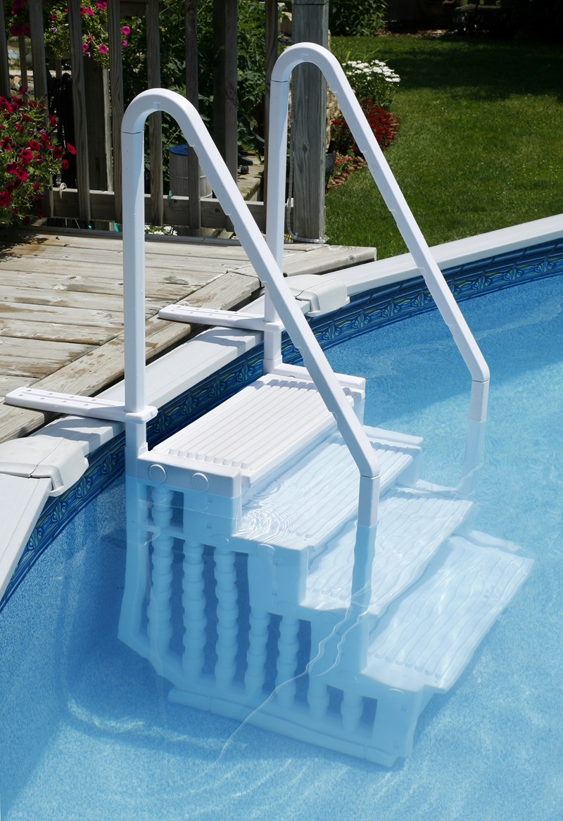 Choosing A Ladder Or Steps For An Above Ground Pool