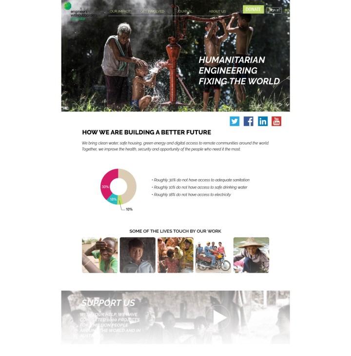 EWB homepage hifi prototype