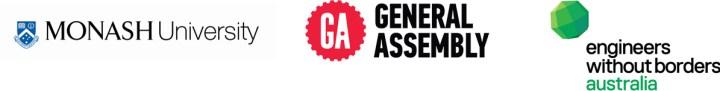 Monash Uni logo, GA logo, EWB logo