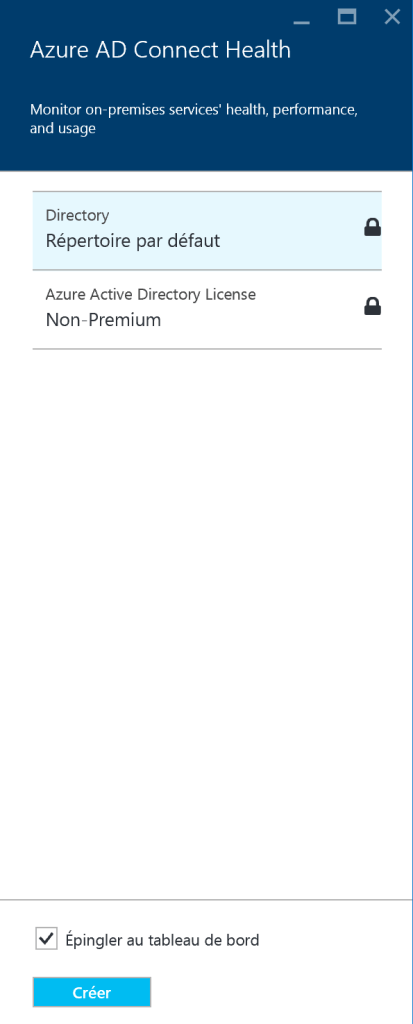 Choose Azure Default Folder Azure AD Connect Health