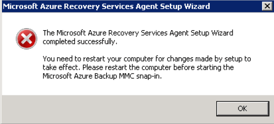 Backup agent has been installed
