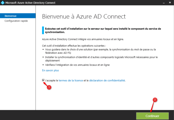 Wizard Azure AD Connect