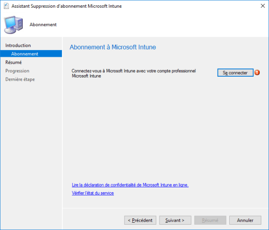 Connect with Intune  credential