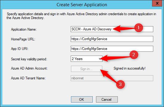 Co-management configure application