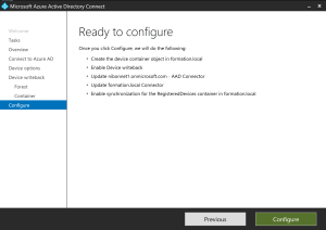 Hybrid equipment with Azure AD