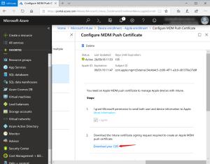 Download csr certificate