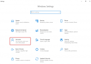 Accounts on Windows Settings  Windows 10 Auto-enrollment