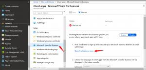 Configure Windows Store for business into Microsoft Intune