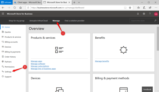 Configure Windows Store for Business to integrate with Intune