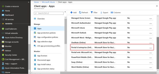 Application has been present on Intune