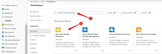 Select Azure identity Protection