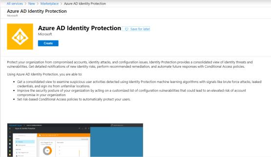 Create identity Protection
