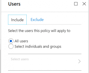 Select users account