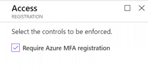 Configure require Azure MFA