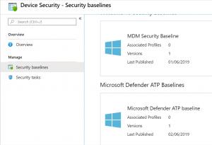 Choose MDM Security Baseline