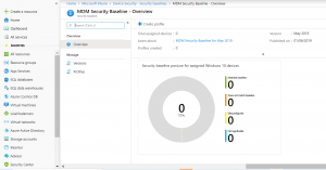 Create policy for MDM Security Baseline
