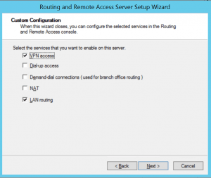 VPN and Routing Access
