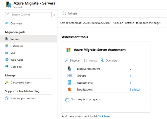 Azure Migrate - Create assessment