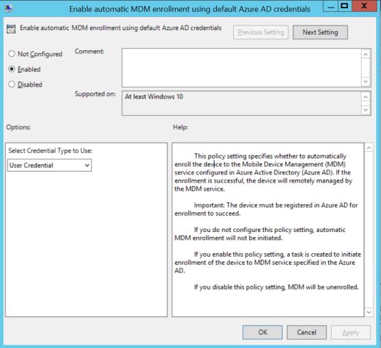 Configure MDM Parameter