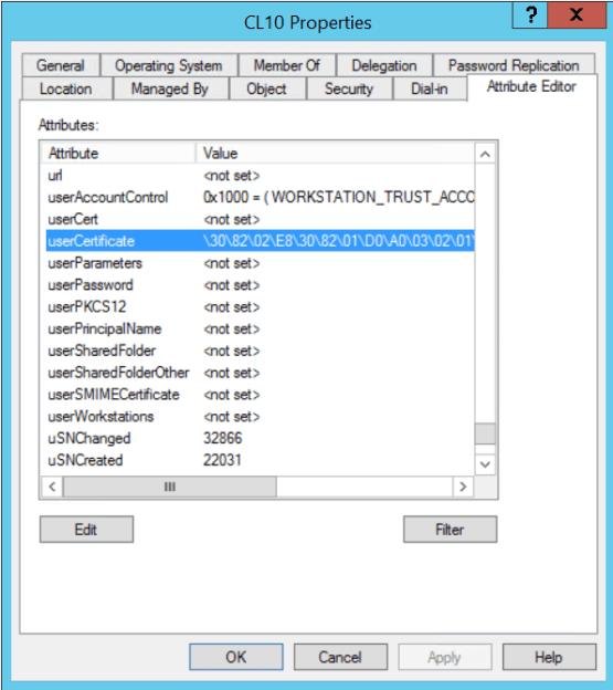 LDAP attributes has been configured