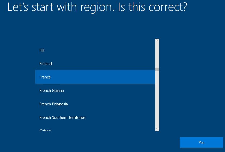 Select Region