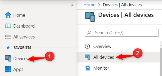 Change primary user - Select Device