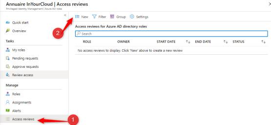 Access Review with Azure PIM - Access to Azure PIM portal