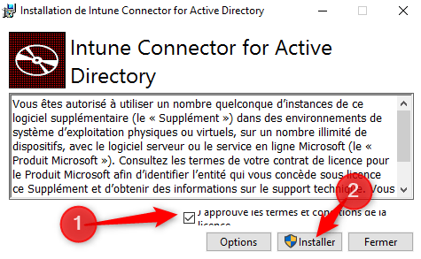 Install Intune Connecter for Active Directory