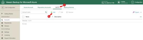Add SMTP configuratio